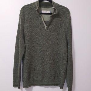 Tommy Bahama mock neck 1/3 zip up knit sweater